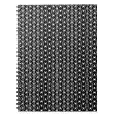 Flower Of Life Sacred Geometry Spiral Notebook
