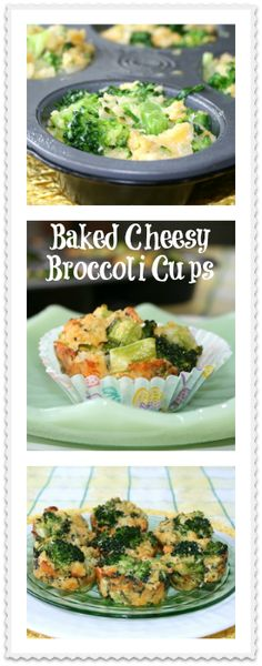 Baked Cheesy Broccoli Cups - That's My Home #bakedbroccolicups #broccolicups #broccolirecipes