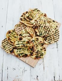 Jamie Oliver's 'easy flatbreads' ... you can't beat homemade flatbread on the side of a really saucy moroccan stew or curry