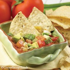 Yummy for Cinco de Mayo celebrations...Vickie's favorite!  Gooseberry Patch Recipes: Vickies Gazpacho Dip from 101 Easy Entertaining