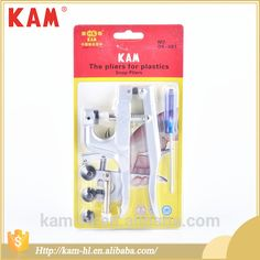 Snap pliers for plastic snaps T5 all types of KAM garment buttons machines