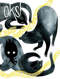 OKSI by Mari Ahokoivu Asema 2018 | 376 pages | full color | bound  In Finnish with English subtitles Oksi is a graphic novel a about mothers and daughters, stars and myths. It's an epic story mix with sci-fi, fantasy and old Finnish bear mythology.  One of the bear mothers cubs is not like the others. What is it? Who has send it?