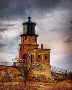 Split Rock lighthouse  This lighthouse in Minnesota was constructed in 1910 after a number of shipwrecks nearby on Lake Superior. It was decommissioned in the 1960s and now serves as a historic site.  Photo: chefranden