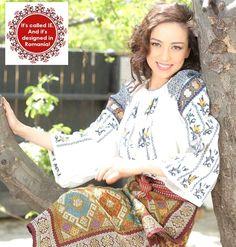 (blouse) - romanian traditional clothing | romanian-girls-romanians-traditional-clothing-eastern-europeans1.jpg
