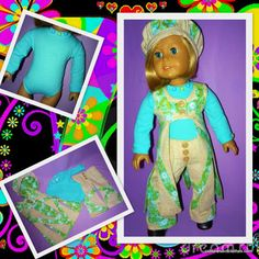 American Girl doll Julie 1970's   The Stitching Post (Kit modeling a 1970's outfit)