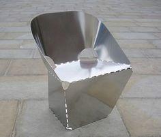 Max Lamb | Steel Sheet Chair | 2008, Sheet Steel | UKhttp://www.galleryfumi.com/Artists/Max-Lamb/