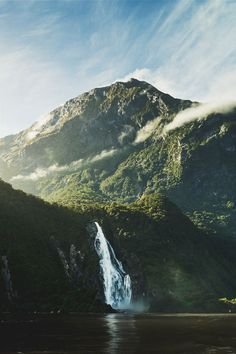 "i-long-to-travel-the-world: "" ikwt: Milford Sound II (Simon Thomas) Landscape Photography, Nature Photography, Travel Photography, Adventure Photography, Enjoy The Ride, Nature Sauvage, Milford Sound, Les Cascades, Adventure Is Out There"