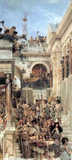 Sir Lawrence Alma Tadema - Spring 1894 This has been my favorite piece of art since I saw it at the Getty several years ago. Everything about it is beautiful