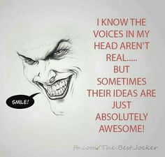 And then he acts on them. Joker in a nutshell. Joker Quotes, Me Quotes, Motivational Quotes, Funny Quotes, Inspirational Quotes, Qoutes, Gangsta Quotes, Nananana Batman, Univers Dc
