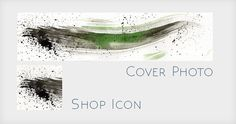 Abstract Watercolor Cover Design with Icon  Splatter Abstract