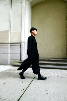Yohji, Comme?? Actually, who cares. The look is perfect. Possibly too perfect...