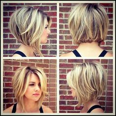 Stacked Bob Hairstyles For Women, With a couple styling tricks you're able to transform the medium hairstyles in various styles. The medium hairstyles are a rather excellent alternate . Stacked Bob Hairstyles, Hairstyles For Round Faces, Medium Hairstyles, Cool Hairstyles, Hairstyle Ideas, Latest Hairstyles, Longer Bob Hairstyles, Swing Bob Hairstyles, Neck Length Hairstyles