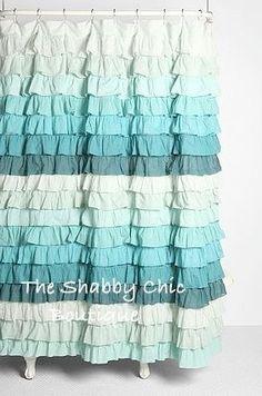 Cute Shower Curtains waterfall ruffle shower curtain   pinterest   urban outfitters