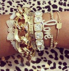 Arm candy at it's finest via We Love It. #laylagrayce #holiday #jewelry