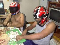 Helmet Safety before cutting Onions - Funny Indian Photos