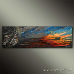 The promise of a new dawn-Original art seascape oil painting on canvas by… Back Painting, Painting Edges, Acrylic Paintings, Oil Painting On Canvas, Dawn, Original Art, Texture, Free Shipping, Artist