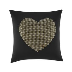 Wild Thing Heart Sequin Decorative Throw Pillow