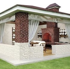 Tropical Landscaping, Landscape Design, Gazebo, Outdoor Structures, House Design, Porches, Outdoor Decor, Home Decor, Black