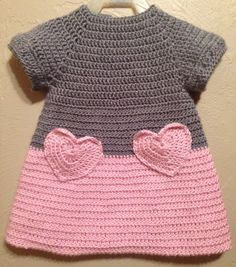 Soft & Beautiful Crocheted Pink and Grey Baby by ItsOwlAboutYou, $16.00