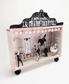 Shadow box diorama frame -Le Grand Carnival- inspiration for book deconstruction #diorama: #setdesign #animation #stopmotion