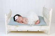 Photo Prop Baby Bed Doll Bed Solid Wood Photography Prop | eBay