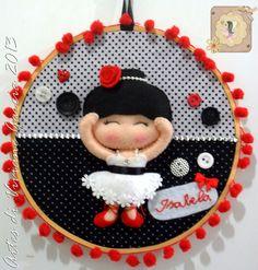 Porta Maternidade de Princesa Encomendas - e-mail – artesdivivianegarcia@yahoo.com.br curtam nossa página: https://www.facebook.com/pages/Artes-di-Viviane-Garcia/210050455699761 #portamaternidade #bastidor #bailarina