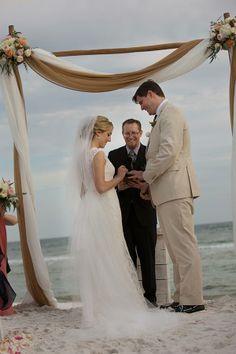 Santa Rosa Beach, Florida, Wedding Photos: Holly + Michael