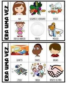 FICHAS PARA PRODUÇÃO DE TEXTO Portuguese Lessons, Poetry For Kids, Diy Halloween Decorations, Idioms, Kids Education, Speech Therapy, Professor, Kindergarten, Preschool