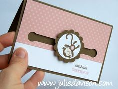 Julie's Stamping Spot -- Stampin' Up! Project Ideas Posted Daily: Iron Craft #16: Penny Spinner Card