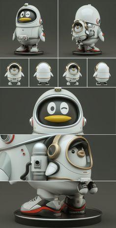 QQ 20周年展   策划与设计执行 on Behance Game Character, Character Concept, Concept Art, Character Ideas, Robots Characters, Cute Characters, Vinyl Toys, Vinyl Art, Robot Cute