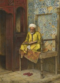 Arthur von Ferraris (Hungarian, 1856-1936). The Learned Man of Cairo, 1888