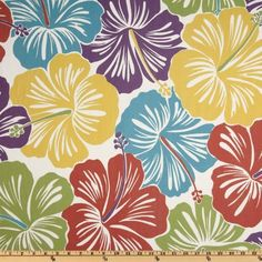 54'' Wide Suburban Home Indoor/Outdoor Hibiscus Multi Fabric By The Yard by Duralee, http://www.amazon.com/dp/B007EFIB96/ref=cm_sw_r_pi_dp_xuu8rb09S9FV4