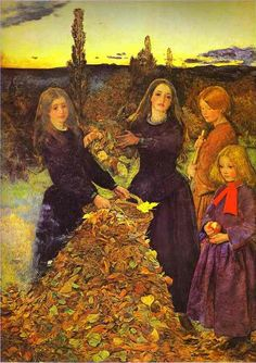 This is indeed what Autumn feels like.   Autumn Leaves by John Everett Millais