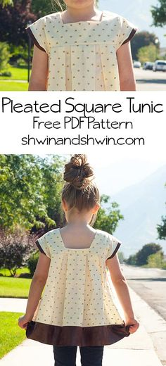 Pleated Square Tunic Pattern - Shwin and Shwin