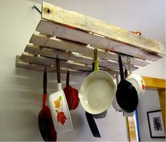 Recycled Wood Pallet for Kitchen Storage