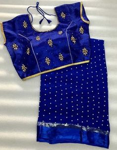 Pearl Georgette saree with stitched handwork blouse