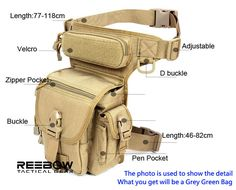 Outdoor Travel Hiking Tactical Molle Velcro Buckle Pocket Thigh BUM LEG BAG Pack | eBay