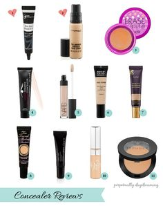 Concealer Trials: Battle of the Undereye Circles Reviews of 11 High End and Drugstore Concealers It Cosmetics Bye Bye Undereye, MAC Pro Longwear Concealer, Erase Paste, MUFE, Tarte, Nars, Too Faced, MaryKay, Loreal True Match and Sephora