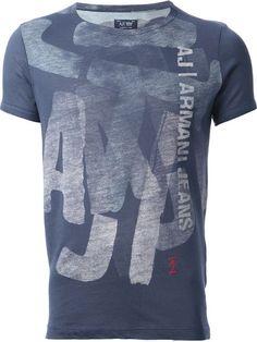 Armani Jeans Camiseta Azul - Profile - Farfetch.com