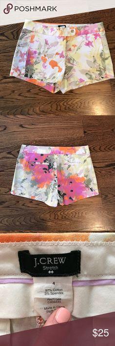 J.crew floral shorts Great shape, worn twice J. Crew Shorts