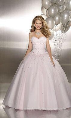 Pink Ball Gown Wedding Dress...