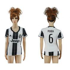 Juventus Fotbollskläder Kvinnor 16-17 #Pogba 6 Hemmatröja Kortärmad,259,28KR,shirtshopservice@gmail.com