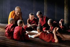 "awkwardsituationist: "" chan kwok hung (in photos almost reminiscent of a norman rockwell painting) documents the life of buddhist monks in myanmar and china. Norman Rockwell Paintings, Concept Photography, India Culture, Tribal People, Buddha Art, Buddhist Monk, Avatar The Last Airbender, Beautiful Asian Girls, Tibet"