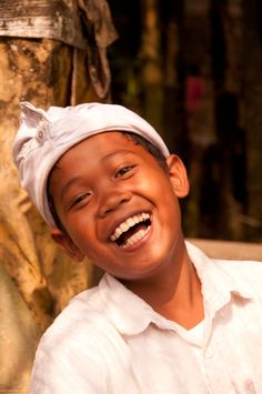 A big smile from a child in Bali, Indonesia...  which is located in Southeast Asia