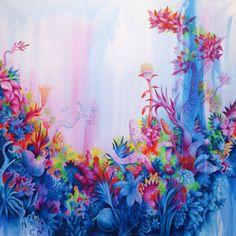 Pedro Varela Paints a Dreamlike, Tropical Universe | Hi-Fructose Magazine