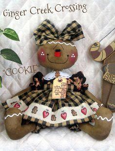 cute raggedy doll in clay!