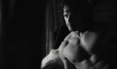 Some black and white Images from Sam Heughan as Jamie Fraser and of course many Images as himself. Also some Wallpapers in black and white.