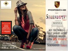 #SERENDIPITY #Take4: World Top brands like,#VERSACE  #MISSONI, #EMILLIO #GUCCI,#ROBERTO-CAVALLI at upto 60% Discounts and thats not all, We have brought in Goyard, #Celine, #YSL, #MIU-MIU, #Parada, #Jimmy-Choo, #Bottega #Veneta, #Salvatore #Ferragamo at Lowest prices ever and lots of surprises to unfold ...12 days to go!