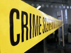 Crime scene / Police scene tape stock photo image