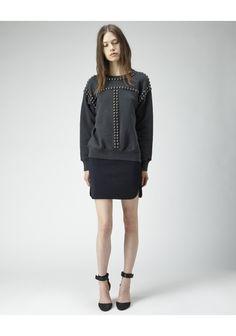 Isabel Marant / Scotty Studded Sweatshirt  |   La Gar�onne | La Garconne